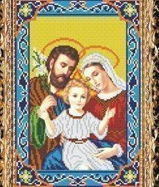 """Схема на ткани для вышивания бисером СВБ-3054 """"Святое семейство"""""""