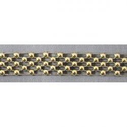 Тесьма со стразами HC-DH1125 (золото)