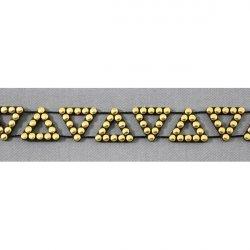 Тесьма со стразами S174E3 (черный с золотом)