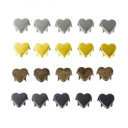 Заклёпки декоративные (сердце) 1,2 см 1/500 шт